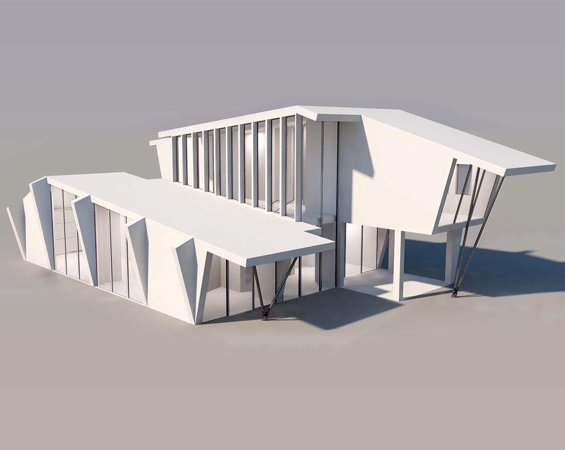 casa-a-tetto-inclinato-moderna